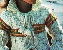 Womens Crochet Pattern Womens Crochet Jacket Chunky Crochet Jacket Crochet Coat Crochet Cardigan 34-42inch Chunky/Bulky PDF Instant Download