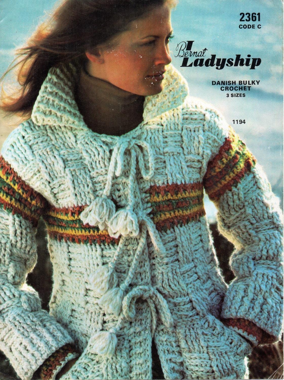Womens Crochet Pattern Womens Crochet Jacket Chunky Crochet