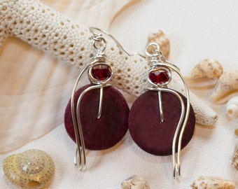 Burgundy Earrings, Wine Red Earrings, Burgundy Red, Light Dangle Earrings, Burgundy Jewelry, Autumn Colors, Fall Colors