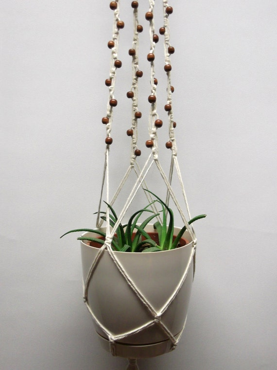 Nature amicale macram coton plante cintre suspendus - Suspension pot de fleur macrame ...