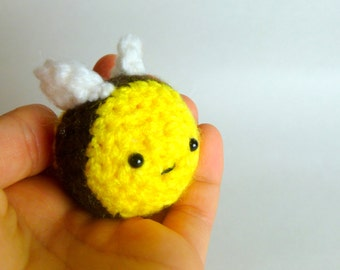 Cute Amigurumi Bee Plush   Cute Crochet Bee Toy   Bumble Bee Plush  Bee Crochet Crochet Animal   Cute Bee Gift   Crochet Amigurumi cute toy