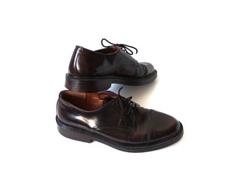 Brown shoes - Leather upper - Leather soles - Leather lining - Men's vintage shoes -  Bentley - Oxford  EUR 42/UK 8/US 8,5
