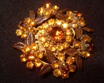 Stunning August Sun Pin Brooch