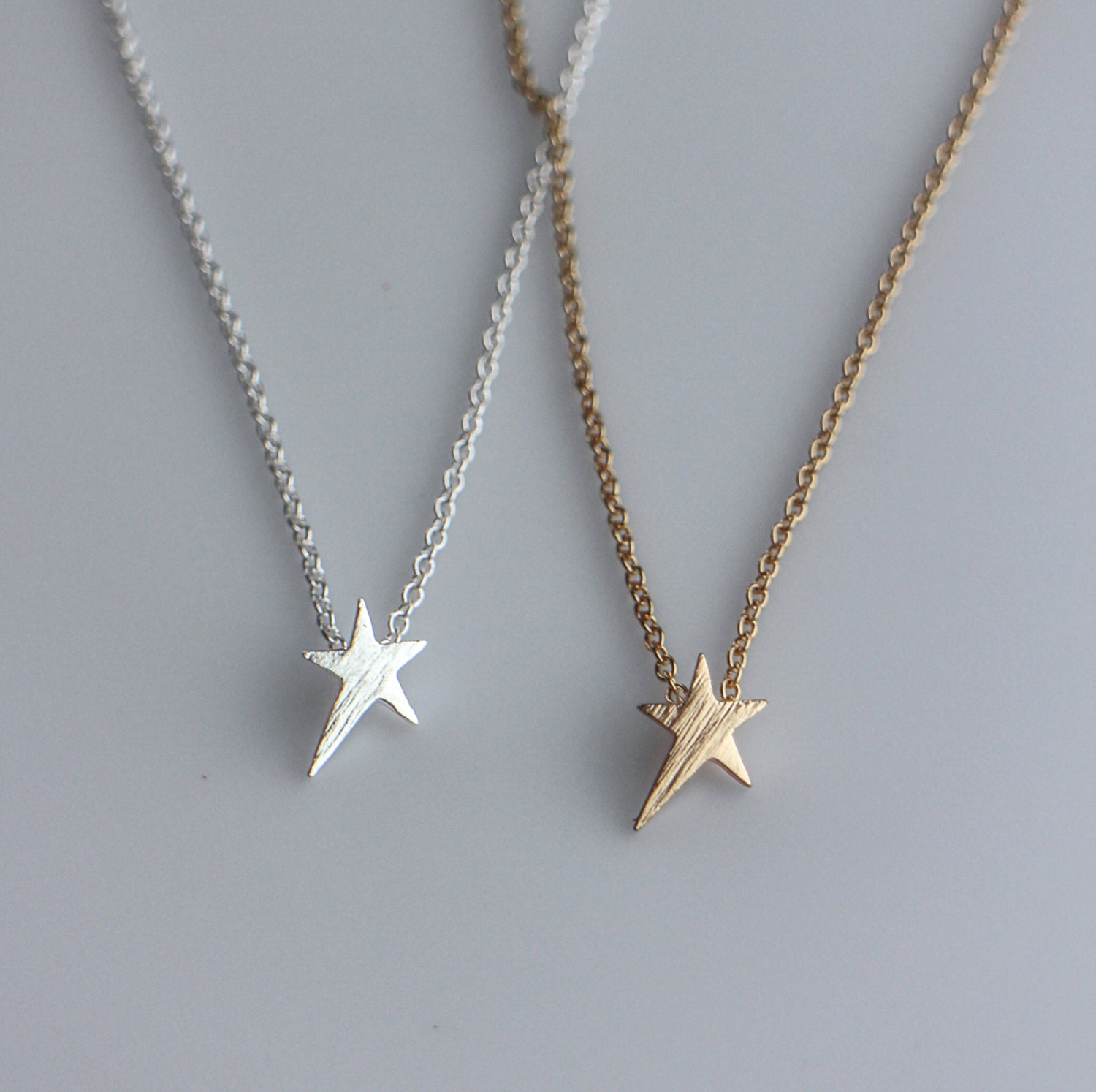 Dainty Star Necklace In Gold Or Silver Tiny Star Small Star