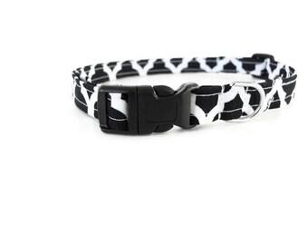 Black Quatrefoil Dog or Cat Collar