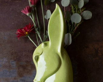 Vintage Art Deco Royal Haeger Deer Vase in Chartreuse Deer USA  home decor vase vintage