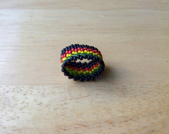 Dread Bead, Native American Style, Peyote Stitch, Seed Beads,  Dreadlock Sleeve, Rasta, Reggae, Colors, & Design Choices