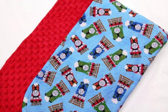 Thomas The Train And Friends Blanket Red Minky Baby Blanket