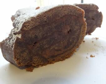 1 lb Chocolate roll, chocolate cake , chocolate buttercream cake, holiday  pastries,chocolate buttercream