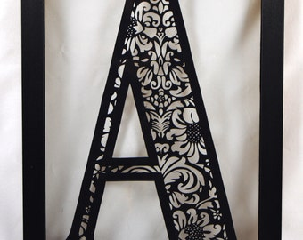DIY Paper Cutting Template - Damask Initial A - Cut It Yourself! A4 PDF Download