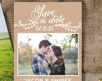 Burlap Charm Save The Date