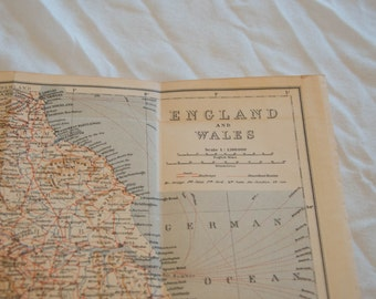 1930 England and Wales, United Kingdom (Great Britain) Antique Map