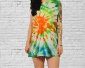vintage 90s tie dye tshirt grunge cut off tank oversized handmade tumblr pastel grunge cosmic trippy abstract psychedelic