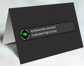 Achievement Unlocked Graduation Card Printable