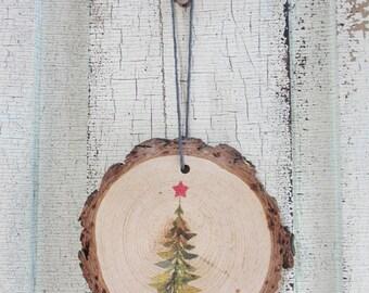 Christmas Tree Wood Ornament