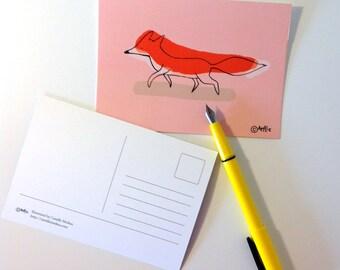 Single Postcard - animal illustration