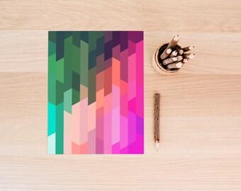 PRINTABLE Art Abstract Art Geometric Art Geometric Print Geometric Wall Art Abstract Print Abstract Wall Art Pink Triangle Print