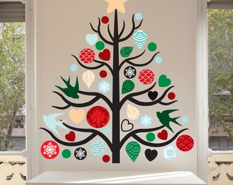 Christmas Tree Sticker Wall thronefieldcom