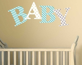 Decorative Letter Wall Decals - Letter Decals By Chromantics