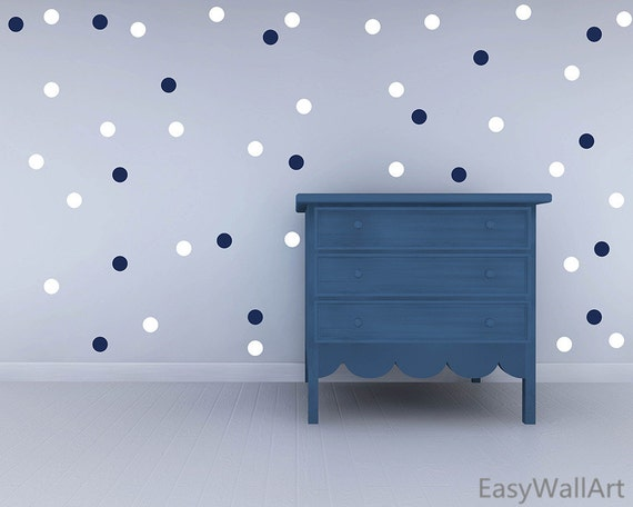 Two Colors Polka Dots Wall Decal, Polka Dot Decals, Vinyl Colorful Polka Dot Wall Art,  Polka Dots Stickers, Polka Dots Wall Decor #P76-5