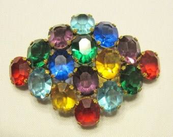 Early Multi-Colored Brooch