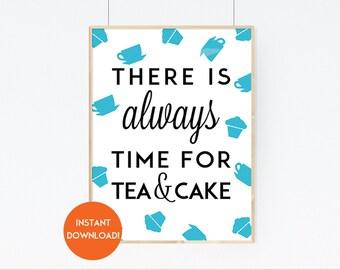 Tea and Cake Printable Kitchen Wall Art