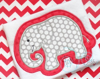 Elephant Applique Design - Animals - Zoo - Alabama - Roll Tide - Monogram - Machine Embroidery - Elephant Embroidery Design