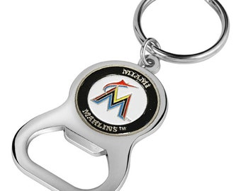 Miami Marlins Keychain Bottle Opener