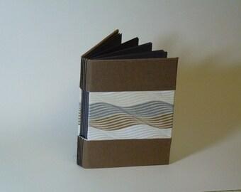 Earthy handbound longstitch art journal