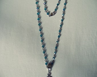 Necklace Cross with crystals_RS Style