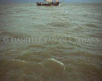 Nautical Dutch Landscape, Klipper, Clipper Sailing, zeilen, sailboat, storm , sea, zee, nature, digital photography, fine art, art print,