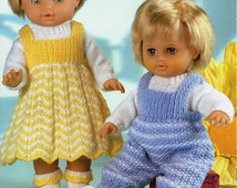 Baby Dolls Knitting Patterns Baby Dolls Dress Dungarees Sweater Socks