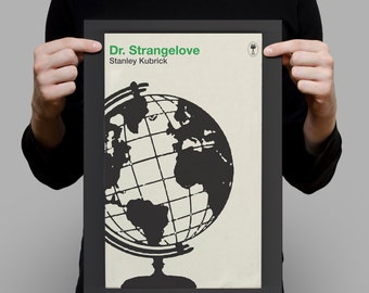 STANLEY KUBRICK Poster Dr. STRANGELOVE Poster Kubrick Print Penguin Classic Movie Poster Retro Movie Poster Minimalist Peter Sellers Ribba
