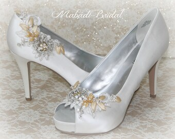 bridal shoe clip, wedding shoe clip, bridesmaid shoe clip, shoe clip