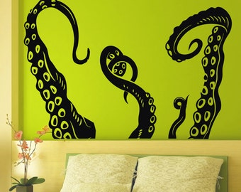 Vinyl Wall Decals Octopus Sprut Poulpe Tentacles Dorm Office Bedroom Decal Sticker Home Decor Art Mural Z669