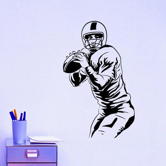 football player wall decal vinyl sticker sport wall decor home football player wall stickers sports wall art