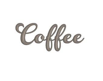 Coffee Machine Embroidery Design Pattern Tote Bag, Pillow, Mug Rug, Gift Bag
