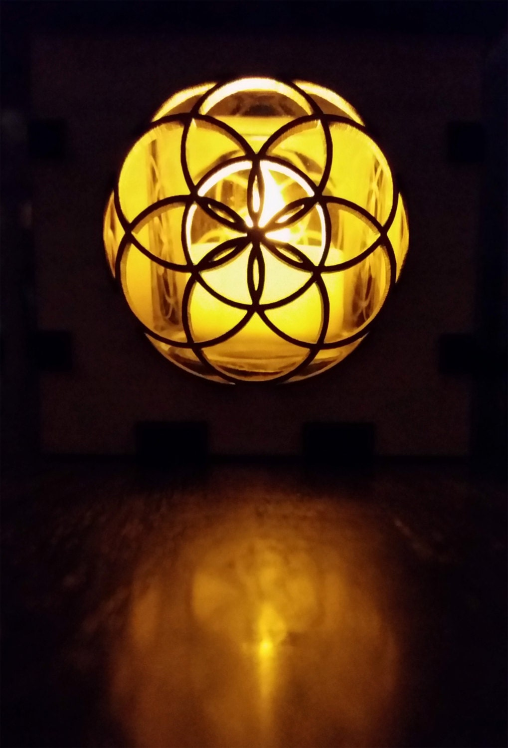 Seed of Life Candle Holder
