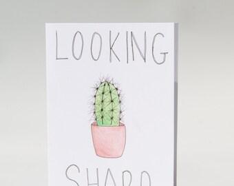 Handmade 'Looking Sharp' Card