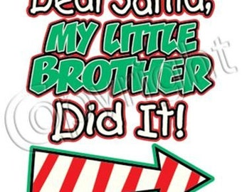 2 pc Christmas shirts,santa shirts,toddler shirts,christmas gifts,holiday items,brother and sister chiristmas shirts,brother and sister shir