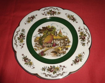 Wood and Sons, Made in England Scallop edge decorative plate.