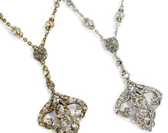 Art Deco Necklace, Bridal Necklace, Vintage Bridal Jewelry, Wedding Necklace, 1920s Necklace, Bridesmaid Necklace, Wedding Jewelry N1226