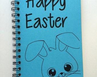 Easter, Journal, Happy Easter, Easter Gift, Easter Notebook, Easter Bunny, Bunny, Rabbit, Easter Basket Gift, Kids, Notebook, Sketchbook