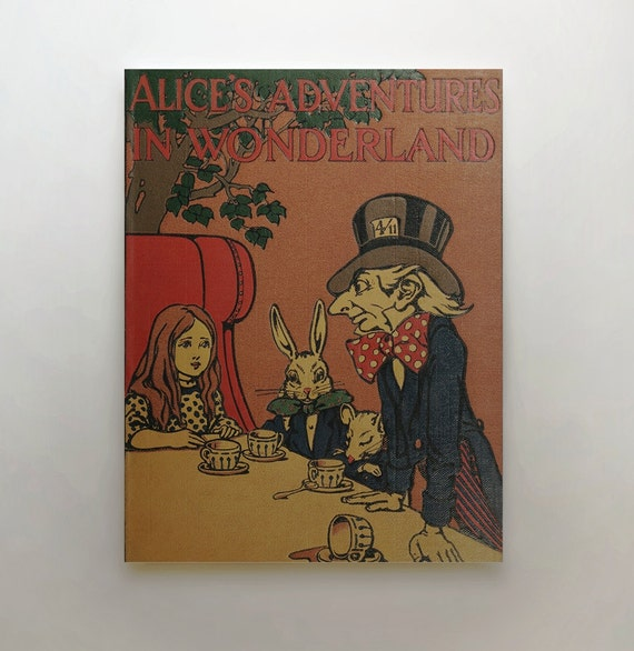 Classic Book Covers On Canvas : Alice in wonderland canvas book lovers gift by