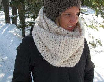 Wool scarf infinity in Fisherman/The Brunswick scarf
