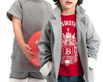 Jacket for boys and girls, 100% organic cotton