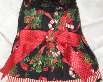 Handmade Christmas Dog Dress