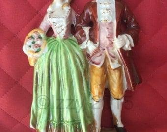 "SALE 20% 6"" Occupied Japan Couple Figurine (Large)/Bisque Porcelain"