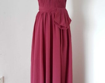 2015 Sweetheart Chiffon Long Bridesmaid Dress