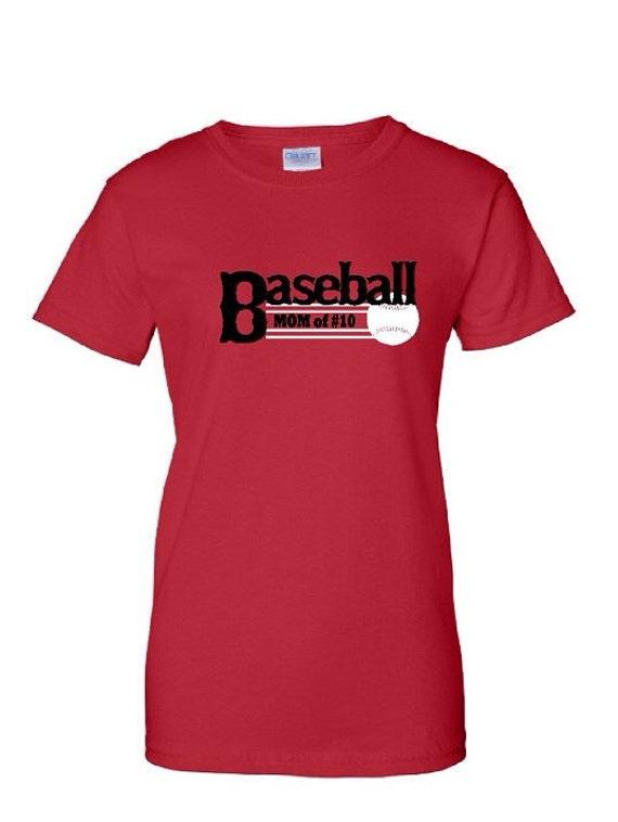 Baseball mom tshirt custom baseball tee by tntapparelnmore for Custom baseball tee shirts